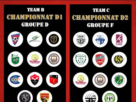 GROUPE CHAMPIONNAT D1 & D2