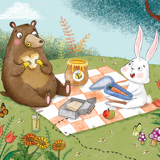 Bear and Rabbit's Picnic