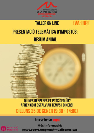 PRESENTACIÓ TELEMÀTICA D'IMPOSTOS (IVA-IRPF).RESUM ANUAL.