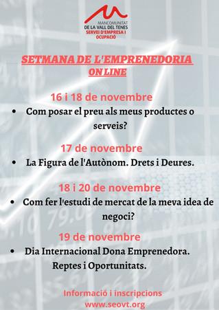 V SETMANA DE L'EMPRENEDORIA. (FORMACIÓ ON LINE)