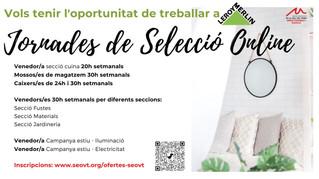JORNADES DE SELECCIÓ ON LINE