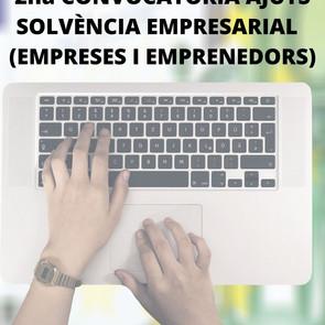 AJUTS EXTRAORDINARIS DIRECTES PER A EMPRESES I PERSONES AUTÒNOMES DE QUALSEVOL SECTOR EMPRESARIAL