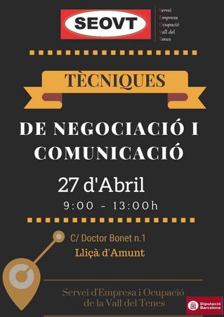 Taller negociació i comunicació