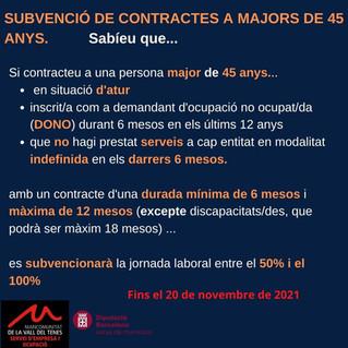 CONTRACTE BONIFICAT PER MAJORS DE 45 ANYS