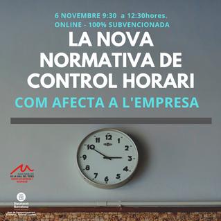 NOVA DATA DE LA NOVA NORMATIVA DE CONTROL HORARI. COM AFECTA A L'EMPRESA?