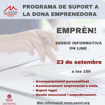 EMPRÈN! Programa de suport a la dona emprenedora.