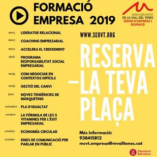 Planificació Formativa 2019 per empreses