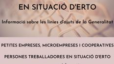 INFORMACIÓ LÍNIA D'AJUTS DE LA GENERALITAT DE SUPORT EMPRESES i TREBALLADORS EN SITUACIÓ D'ERTO