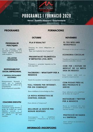 NOVA PROGRAMACIÓ OCTUBRE-DESEMBRE