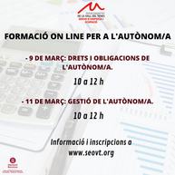 FORMACIÓ ON LINE. EINES PER A L'AUTÒNOM/A.