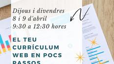 """""""EL TEU CURRÍCULUM WEB EN POCS PASSOS"""""""