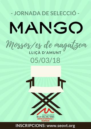 Jornada de selecció - Mossos/es de magatzem per Mango Lliçà d'Amunt