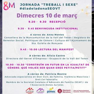 """Participa a la jornada del """"Dia de la Dona"""""""