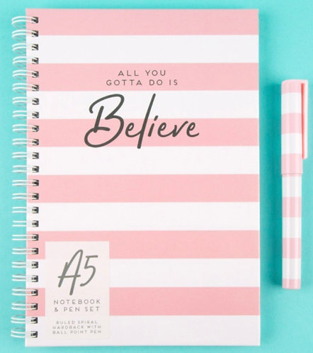A5 Ring-bound Notebook & Matching Pen Set