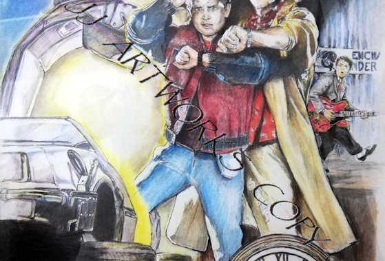 BACK TO THE FUTURE POSTER COLOUR