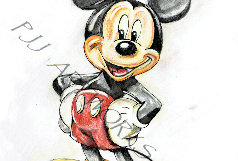 Mickey Mouse colour