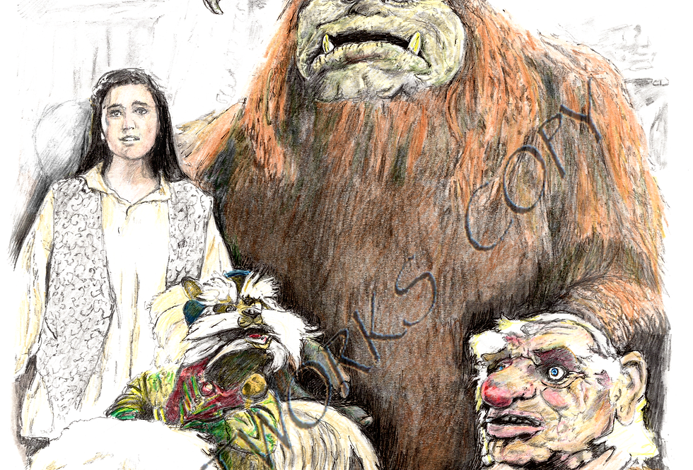 Labyrinth Ludo,Hoggle,didymus,Sarah colour