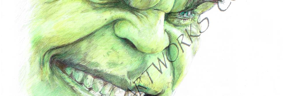 Hulk face colour