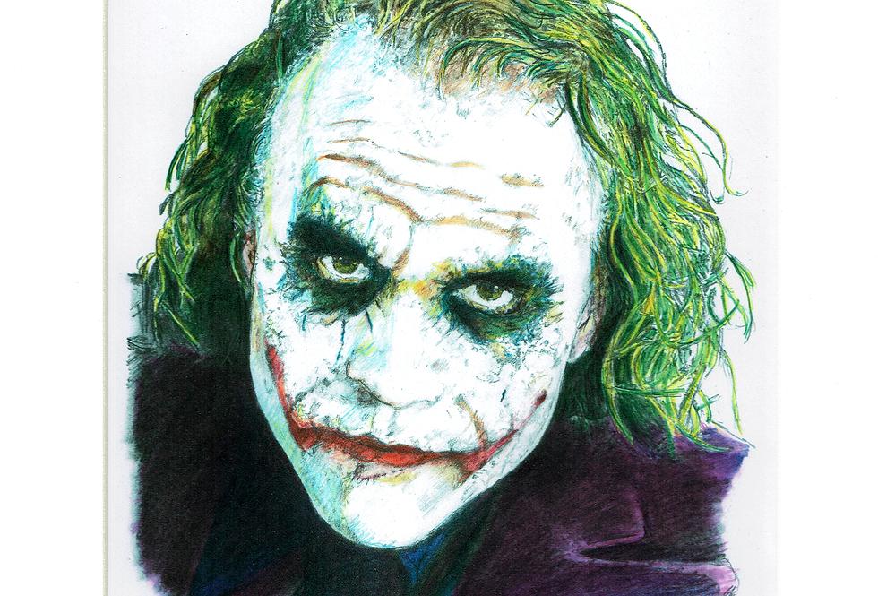 The joker Heath Ledger colour