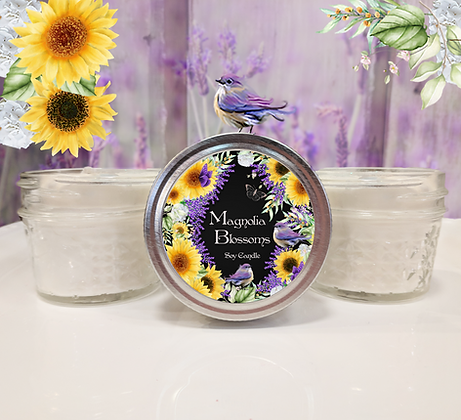 Magnolia Blossom Small Soy Jar Candle