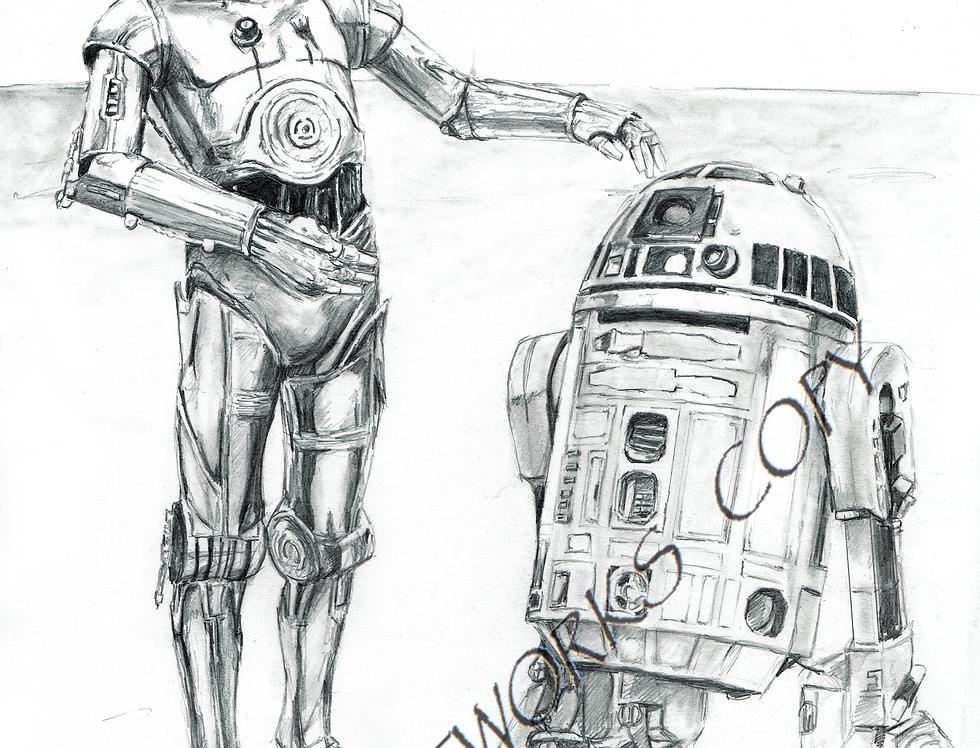 C3PO AND R2D2 STARWARS