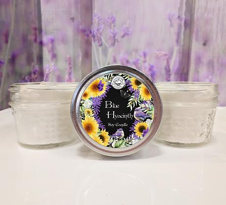 Blue Hyacynth Small Soy Jar Candle