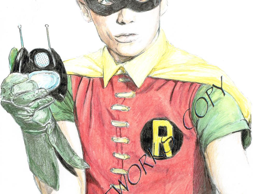 Burt Ward as Robin colour