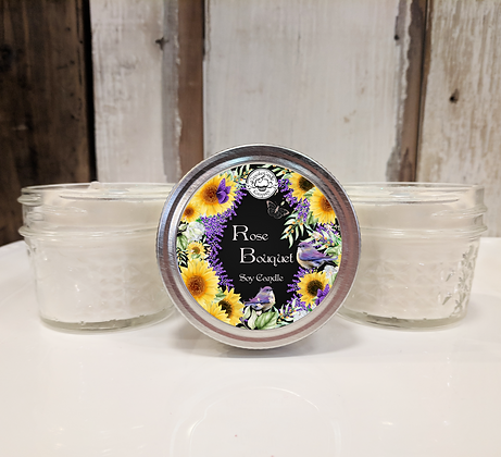 Rose Bouquet Small Soy Jar Candle