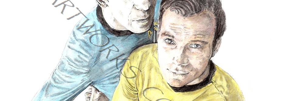 STARTREK Kirk and Spock colour