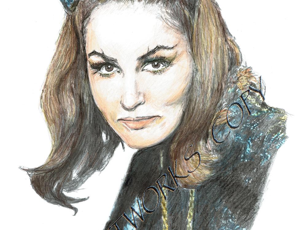 Julie Newmar ,Catwoman colour