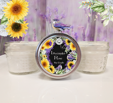 Lavender Rose Small Jar Candle