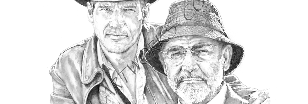 Indiana Jones the Last Crusade.Harrison Ford  and Sean Connery