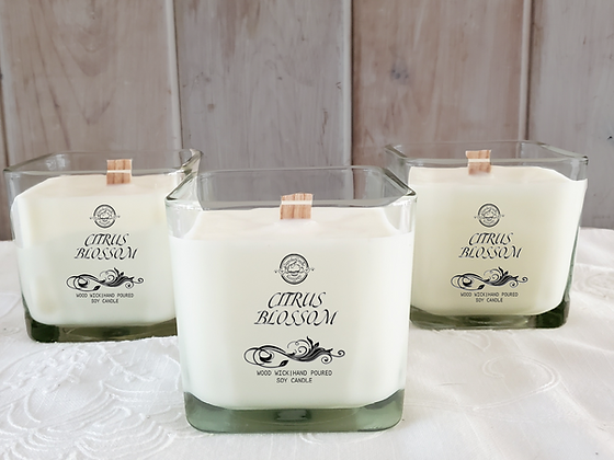 Citrus Blossom Soy Wooden Wick Candle