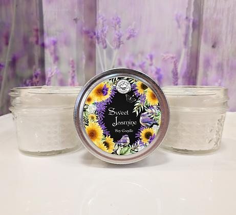 Sweet Jasmine Small Soy Jar Candle
