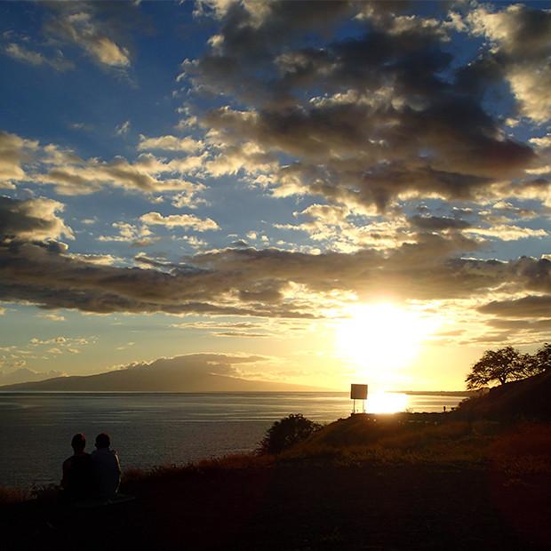マウイ島の夕日|副腎疲労HP