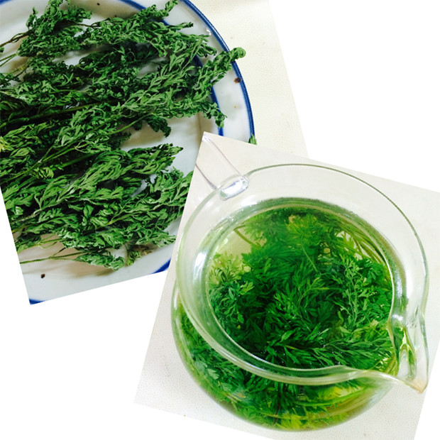 無農薬人参の葉で作った「人参の葉茶」