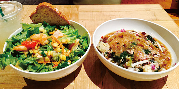 グリーンブラザーズの野菜たっぷりのサラダとスープ|副腎疲労HP