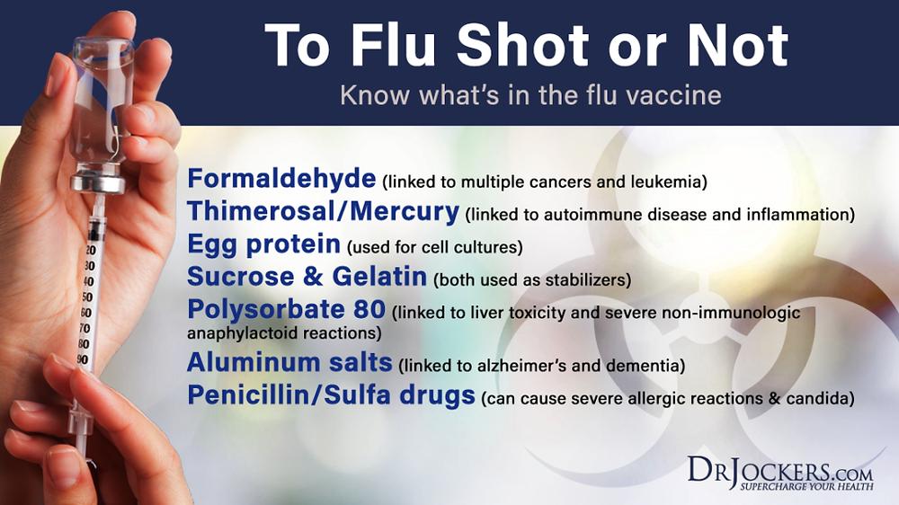 インフルエンザワクチンが含む毒物や添加物|副腎疲労HP