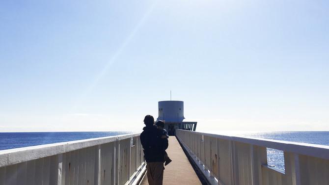 お正月休みは勝浦にある「海中展望塔」へ