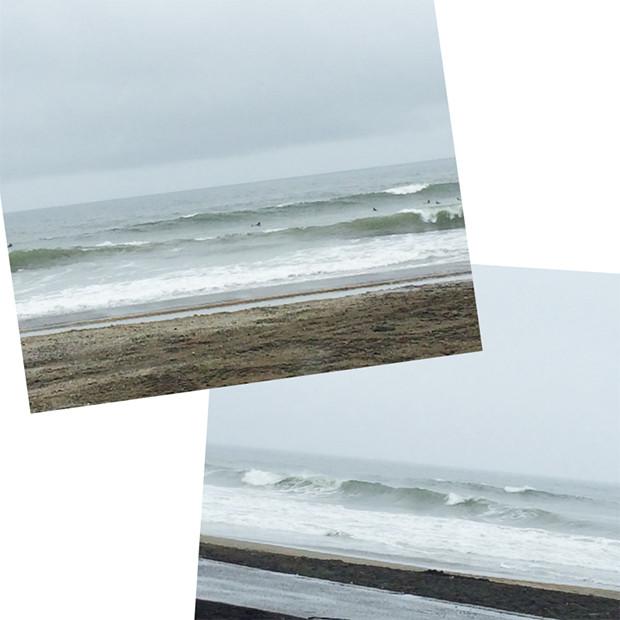 台風のうねりの入った波|副腎疲労HP