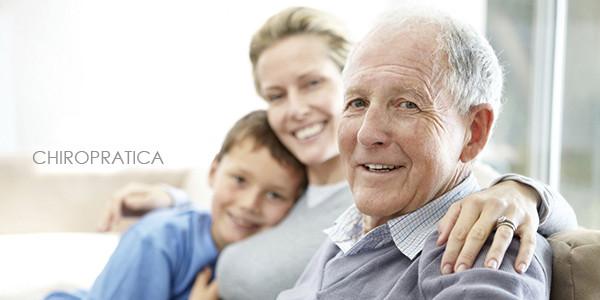 娘や孫と一緒で幸せそうなご老人|副腎疲労HP