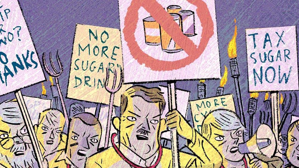 砂糖税の革命運動の絵|副腎疲労HP