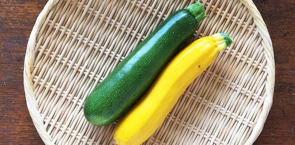 黄色と緑のズッキーニ|副腎疲労HP