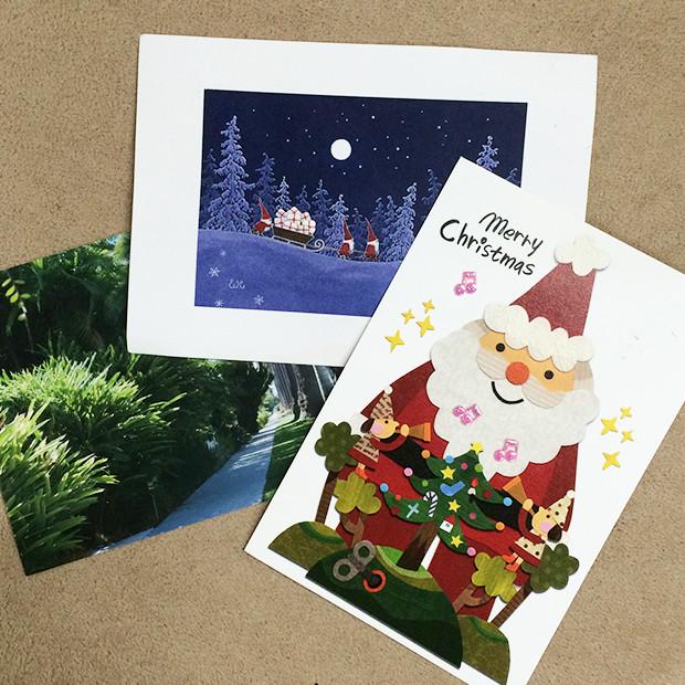 3枚のクリスマスカード|副腎疲労HP