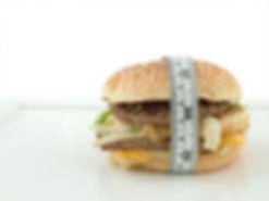 メジャーが巻いてあるハンバーガー|副腎疲労HP