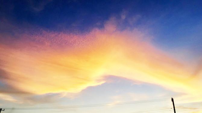 綺麗な夕空が見れました