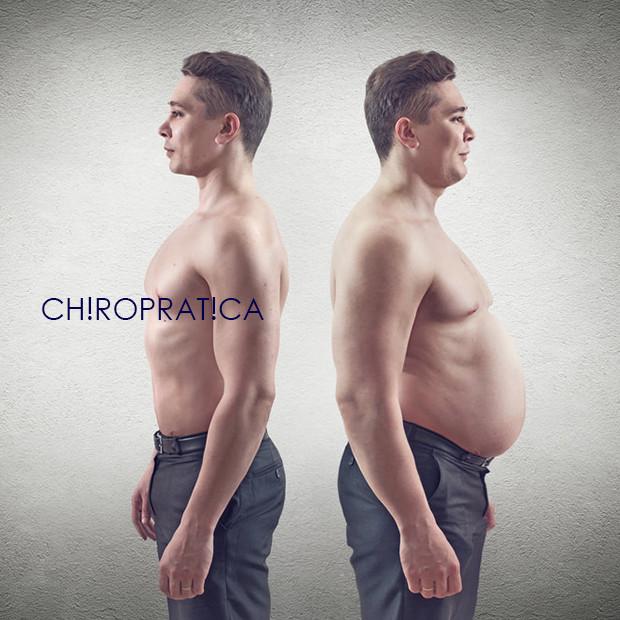痩せている男性と太っている男性|副腎疲労HP