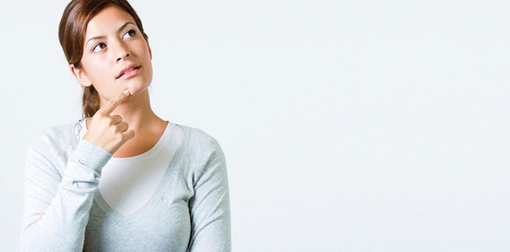 考え事をしている女性|副腎疲労HP