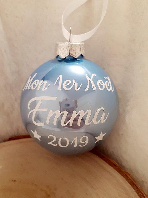 """Boule de Noël personnalisée """"Mon Premier Noël - 2019"""""""