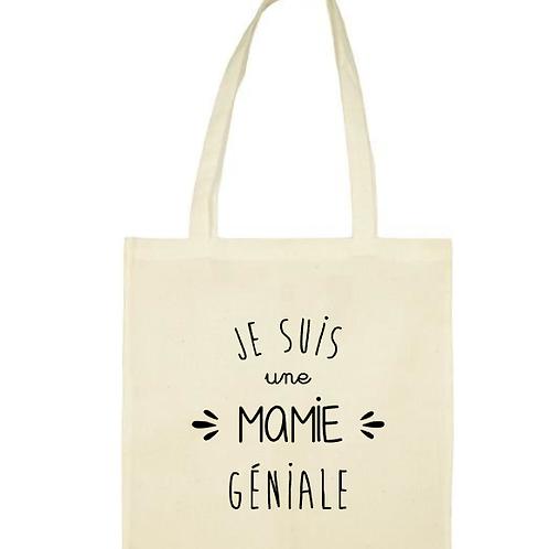 Tote-bag / sac Mamie géniale fête des grand-mères